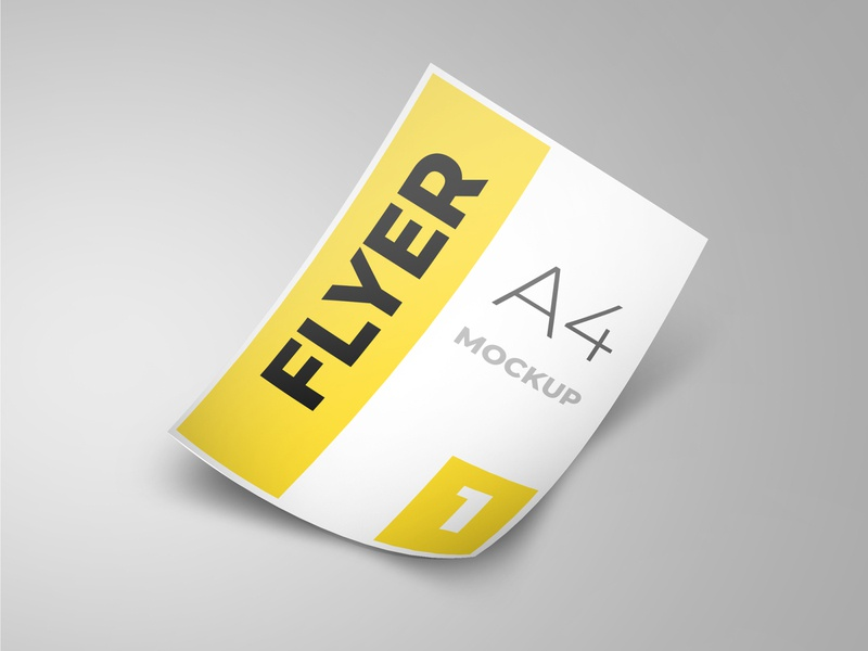 Flyer mockup modern smart object identity high resolution brand a4 a4 flyer flyer mockup mockup flyer