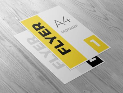 Flyer mockup template design smart object identity high resolution brand a4 a4 flyer flyer mockup mockup flyer