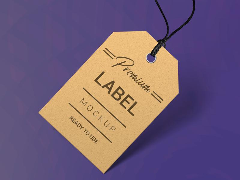 Label mockup modern smart object identity high resolution brand label mockup round label