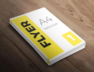 Flyer mockup flyer design smart object identity brand high resolution a4 a4 flyer flyer mockup mockup flyer