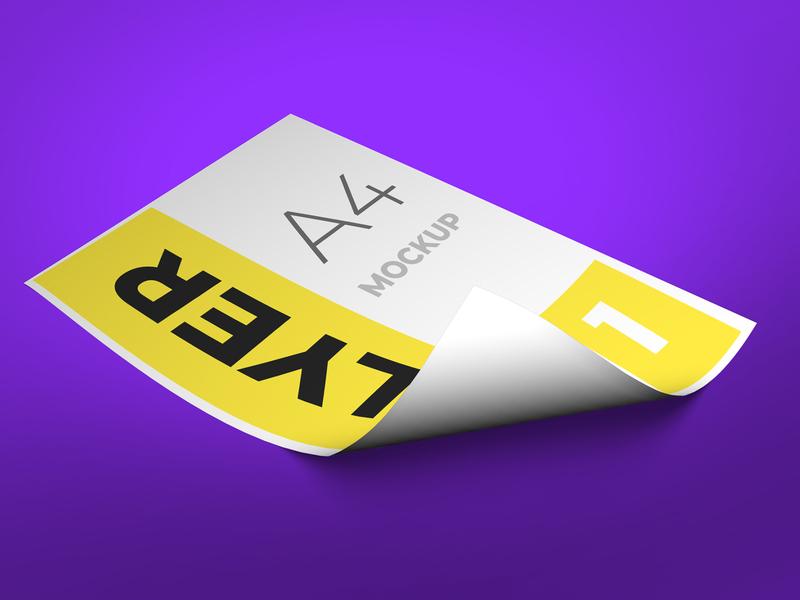 Flyer fold mockup flyer design design modern smart object identity high resolution brand a4 a4 flyer flyer mockup mockup flyer