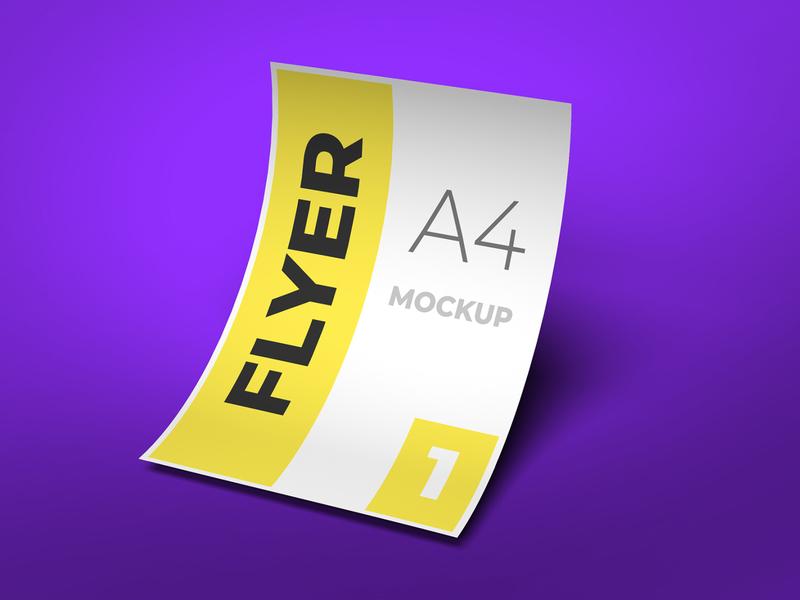 Flyer mockup flyer design modern smart object identity brand high resolution a4 a4 flyer flyer mockup mockup flyer
