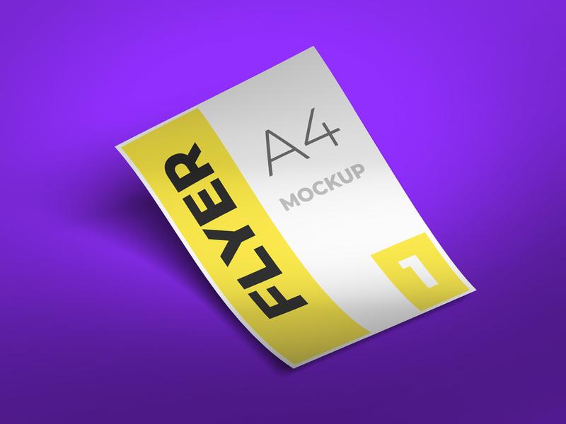 Flyer mockup design flyer design smart object identity high resolution brand a4 a4 flyer flyer mockup mockup flyer