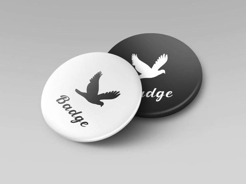 Badge mockup smart object identity high resolution brand pin badge badge mockup