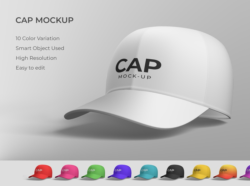 Cap mockup modern smart object identity high resolution brand hat mockup hat cap mockup