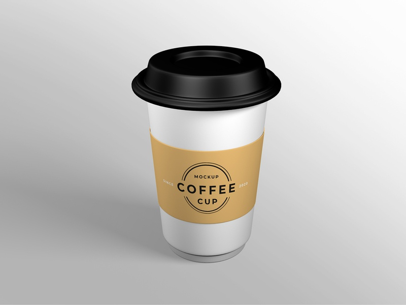 Coffee cup mockup smart object identity high resolution brand coffee cup cup mockup