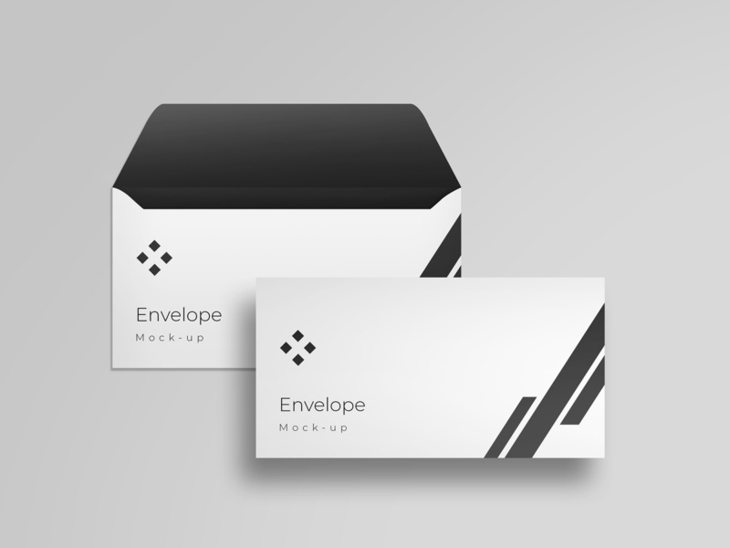 Envelope mockup modern smart object identity high resolution brand envelope mockup