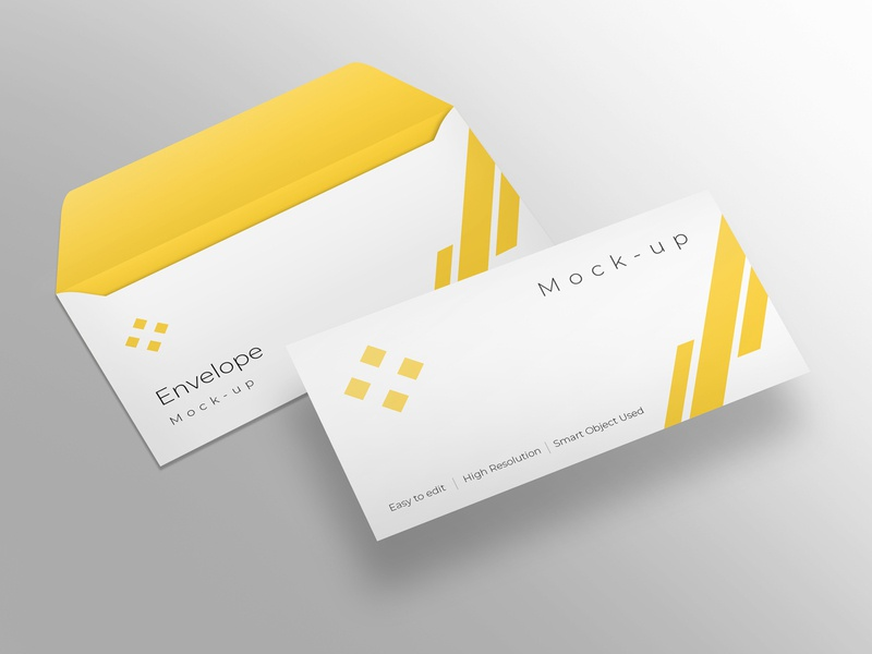 Envelope mockup design modern smart object identity high resolution brand envelope mockup