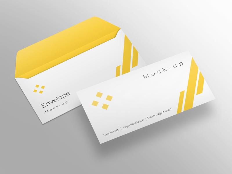 Envelope mockup design modern smart object identity high resolution brand envelope mockup
