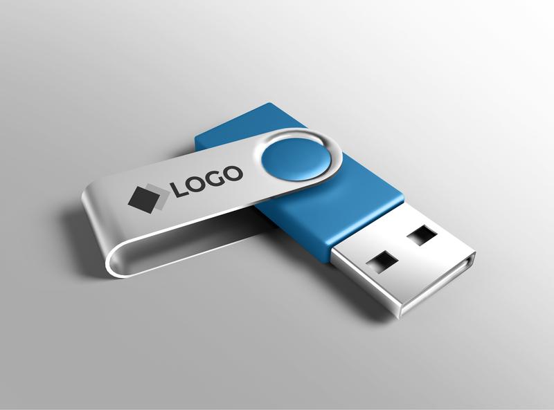 Pendrive mockup smart object identity high resolution brand logo mockup usb pendrive mockup usb mockup