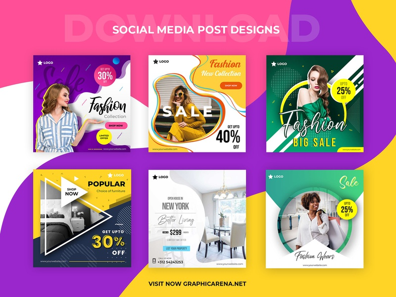 Social Media Post Designs social media design smart object identity high resolution brand instagram post social media post