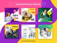 Social Media Post Designs social media design smart object identity high resolution brand instagram post social media post
