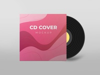 CD cover mockup smart object identity high resolution brand cover cd cover mockup
