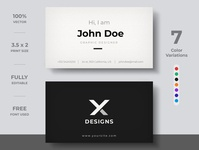 Minimal Business Card design business card template template modern branding identity visiting card brand business card creative business card design business card