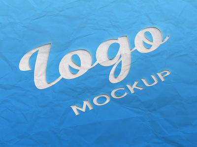 Paper cut Logo mockup paper cut logo mockup mockup logo