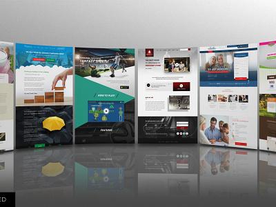 Website mockup template smart object identity high resolution brand website web mockup mockup website mockup
