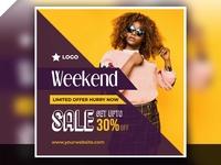 Weekend Sale Post Design