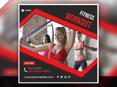 Fitness Workout Post Design