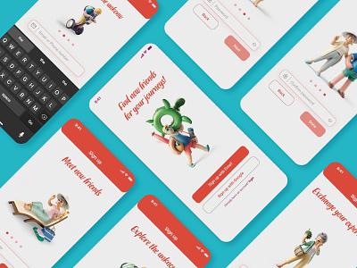 Travel App - UI Design 001 dailyuichallenge daily 100 challenge daily ui dailyui uidesign app uxdesign ux ui  ux branding ui mobile app design design