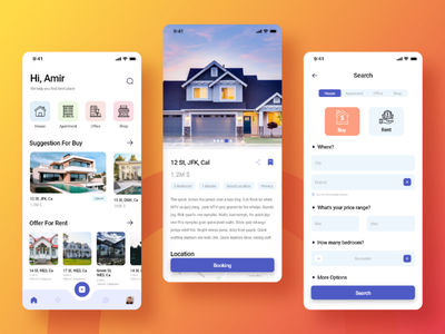 Search screen for a real estate app branding daily ui challenge 022 app design app real estate adobe illustrator search ux design ui design 022 daily ui 022 daily ui challenge ux ui adobe xd