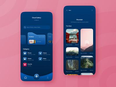 Cloud App - UI Design daily ui challenge app design illustration ux ui design adobe xd ux design