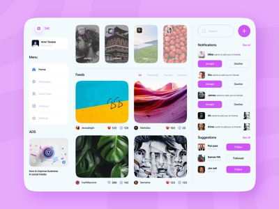 Social Media - UI Design figma design daily ui challenge app adobe xd ux design ux ui design