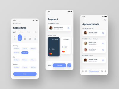 Find dentist app concept. Easy find. Easy book. Easy pay. find dentist stomatology payment hospital healthcare doctor dental clinic clinic ux ui mobile medical ios figma dentistry book appointment app concept
