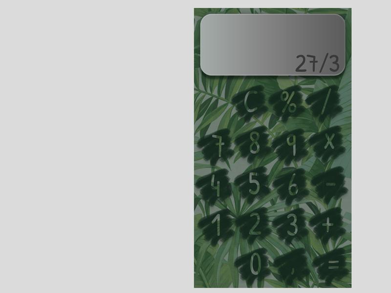 Daily UI 04 green calculator illustration ux uidesign uid ui design dailyui dailychallenge daily 100 challenge app