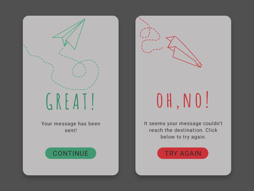 Daily UI 11 - Flash Message paper planes flash message day11 app ux uidesign uid ui design dailyui dailychallenge daily 100 challenge