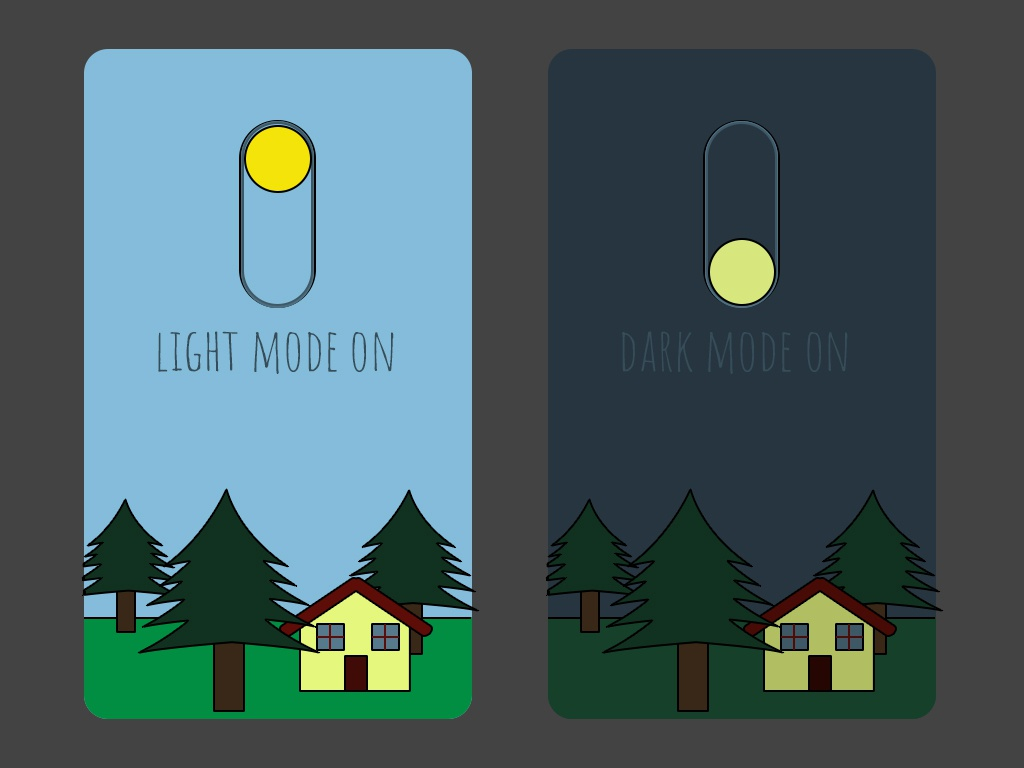 Daily UI 15 - On/Off Switch day15 childish onoff switch illustration app ux uidesign uid ui design dailyui dailychallenge daily 100 challenge