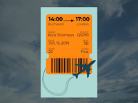 Daily UI 24 - Boarding Pass