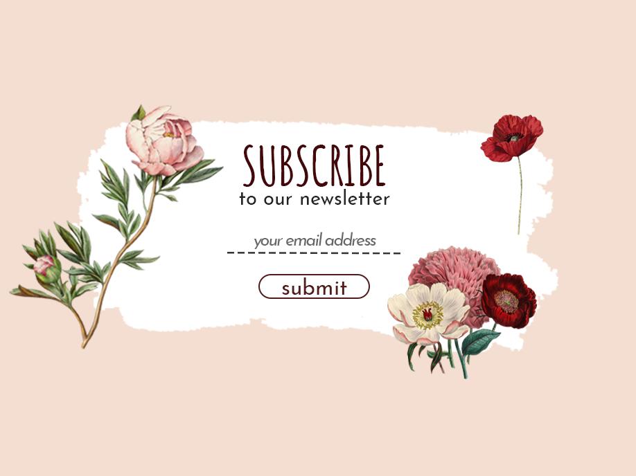 Daily UI 26 - Subscribe flower illustration poppy peony botanical illustration subscribe day26 illustration branding app ux uidesign uid ui design dailyui dailychallenge daily 100 challenge