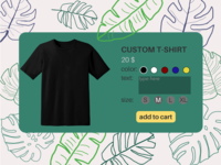 Daily UI 33 - Customize Product