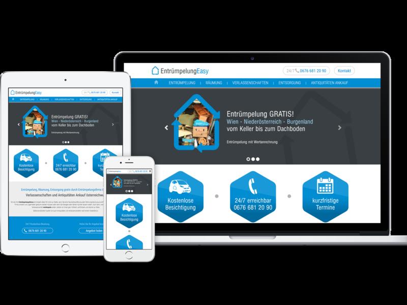 Entruempelung Easy wien vienna ux responsive website responsive web