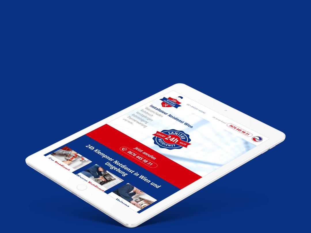 Installateur Notdienst Wien wien vienna responsive website responsive web installateur