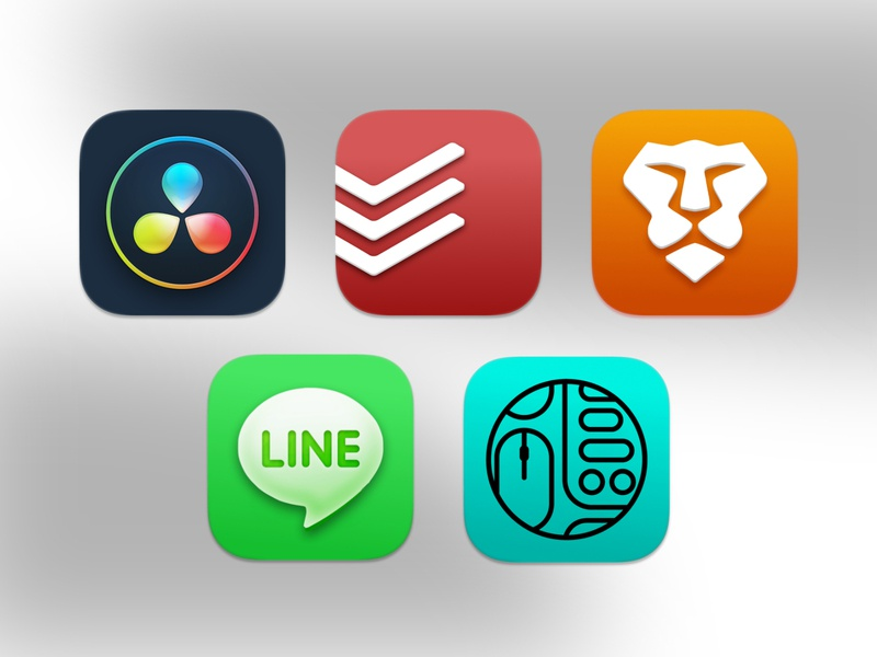 MacOS Big Sur Icons davinci resolve brave line todoist dock icon big sur theme icons pack icons set macos big sur macos icons illustration ui design concept