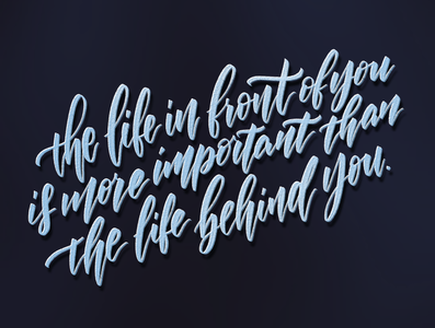 Quote of the day type illustration procreate lettering art lettering handlettering concept calligraphy typography design