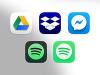 Big Sur Icons 3 by Hector O facebook messenger messenger mac spotify drive dropbox big sur macos icon design icon set icon