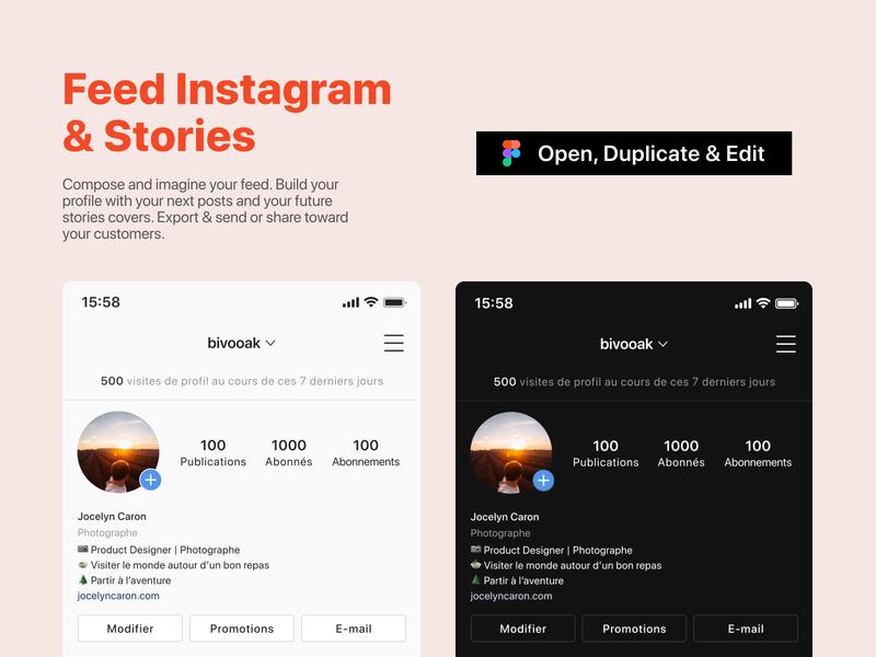 Instagram Feed mobile mockup free template instagram