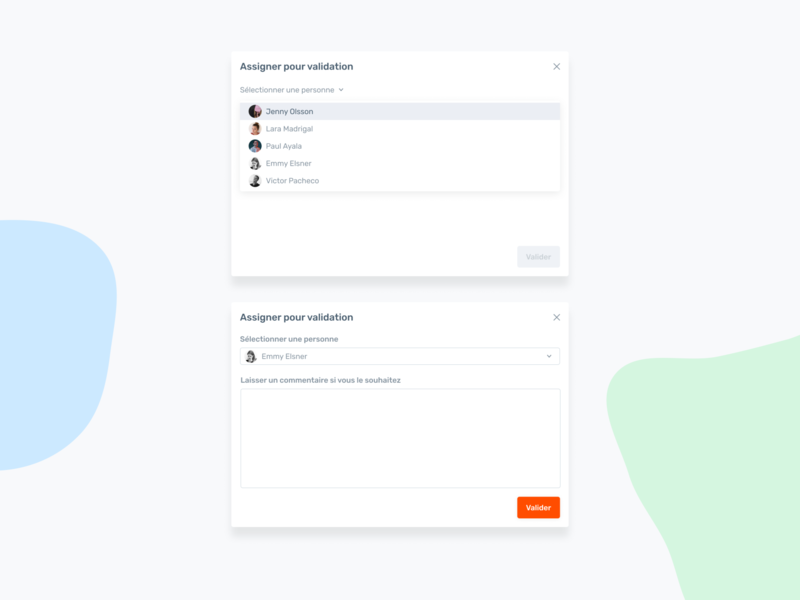 Agorapulse — Assign modal crm user message collaboration team agorapulse assigned assign assign tasks