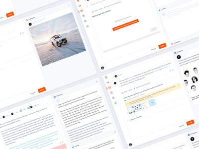 Agorapulse — Create a post [Step 1]✨