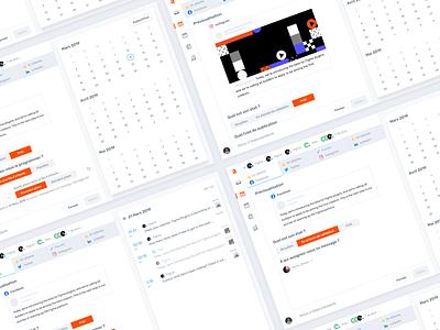 Agorapulse — Create a post [Step 2] product design ui ux interface clean agorapulse content message social app social media schedule crm