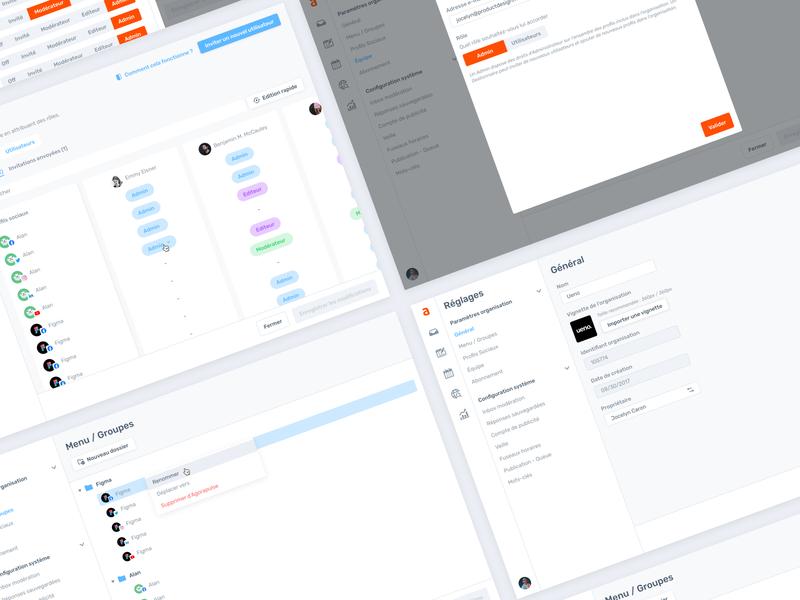 Agorapulse — Settings [All screens] figma product app crm admin agorapulse settings screens