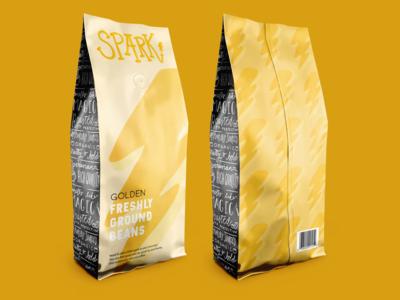 Spark Coffee Package Mockup