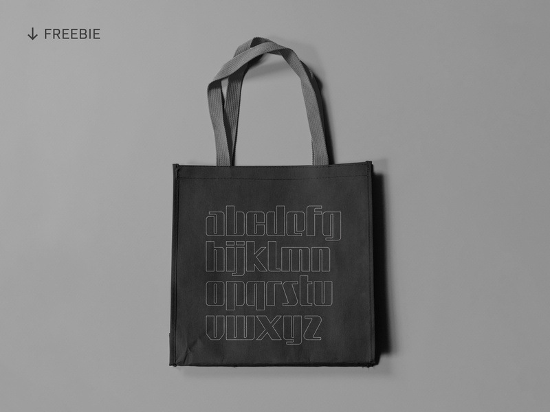 Free Tote Bag Mockup brand identity logotype template minimalist typography typeface type logo branding bag tote bag psd mockup download free download freebies freebie free mockup mockup