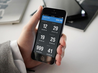 Numbers numbers blue ios 7 flat helvetica feature[23] feature23 expense tracking
