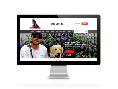 K9 For Warriors Web Design feature23 ui design ux design interface design web design k9s for warriors non profit charity
