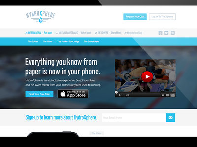 HydroXphere Web Design feature23 ui design ux design interface design logo identity brand swimming swimmer water blue