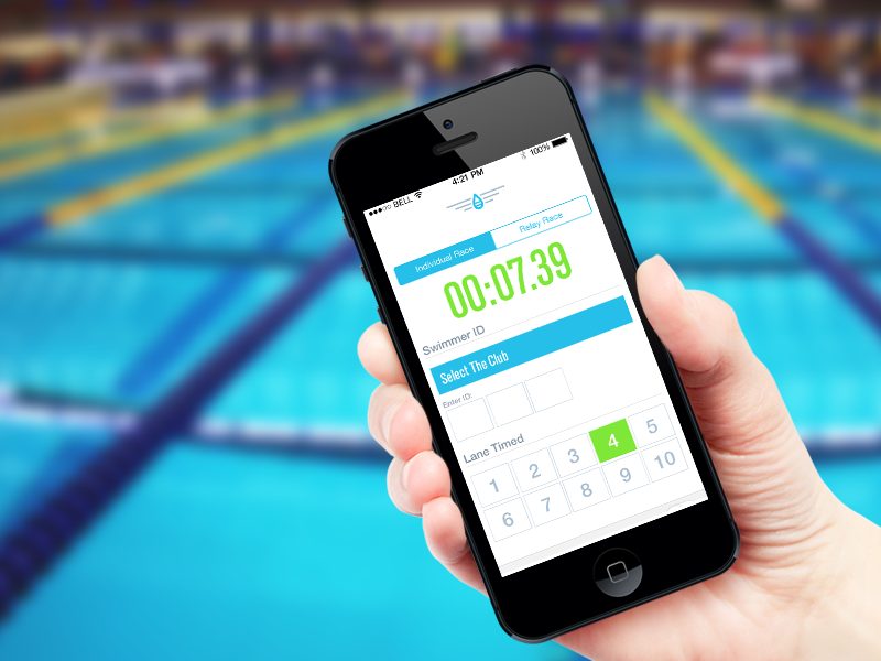 HydroXphere Time Screen feature23 ui design ux design interface design logo identity brand swimming swimmer water blue