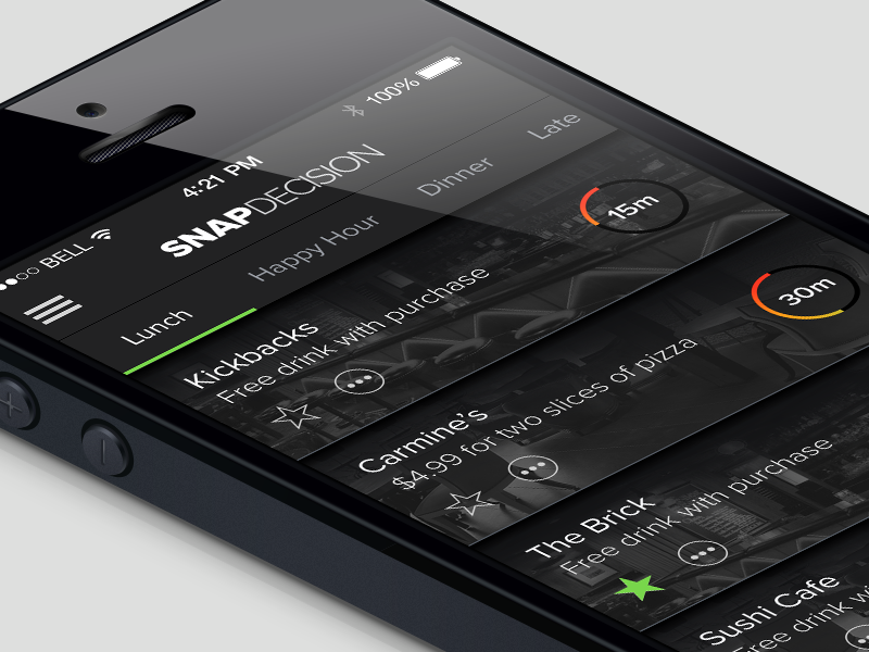 Snap Decision UI feature23 ui design ux design interface design app ios iphone mobile native snap decision